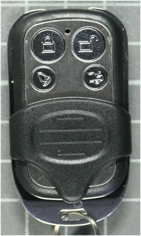 Non-compliant central locking system, transmitter front view