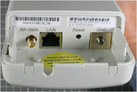 Non-compliant wireless access point inside view