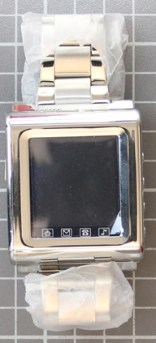 Non-compliant watch with mobile phone front view