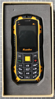 Non-compliant mobile phone with packaging
