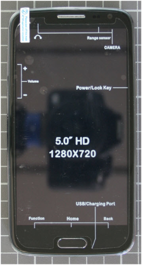 Non-compliant mobile phone front view