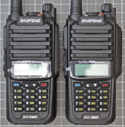 Non-compliant VHF/UHF two-way radio front view