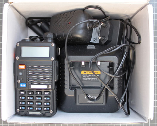Non-compliant VHF/UHF two-way radio - overall view