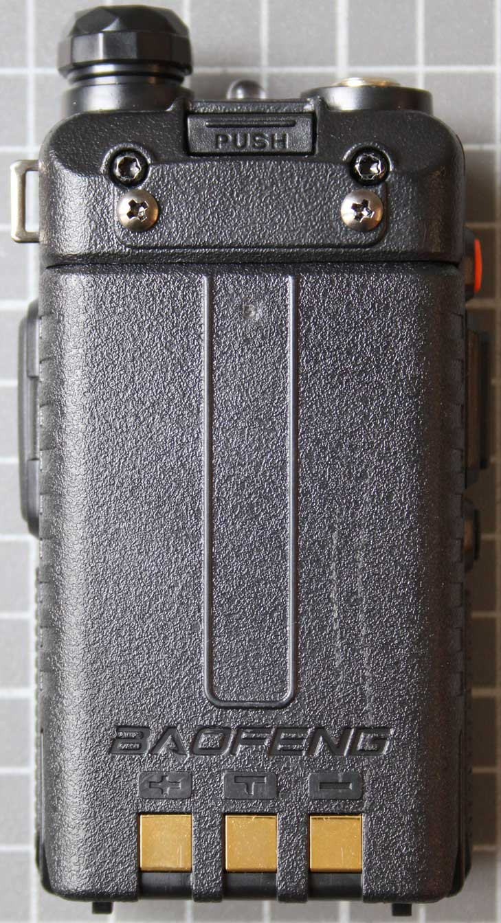Non-compliant two-way radio rear view