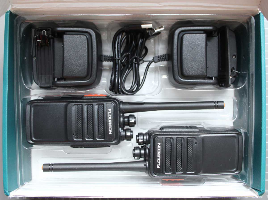 Non-compliant PMR 446 two-way radio - overall view