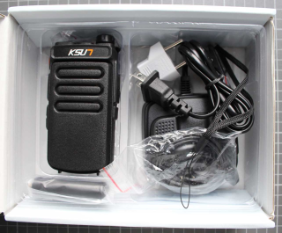 Non-compliant PMR two-way radio - overall view