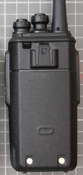 Non-compliant PMR 446 two-way radio rear view