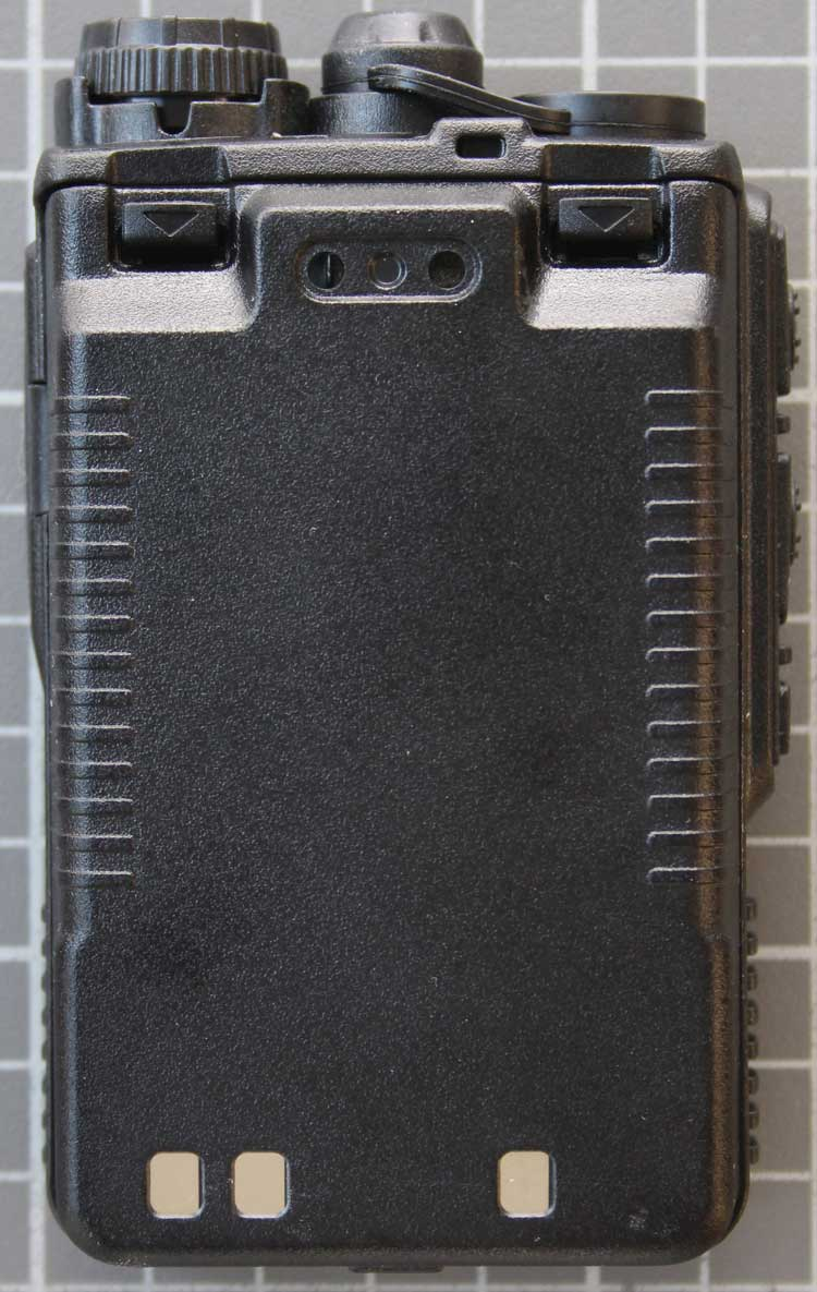 Non-compliant PMR two-way radio rear view