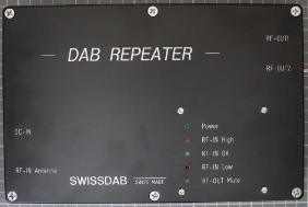 Non-compliant DAB repeater view from top