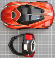 Non-compliant radio controlled car - overall view