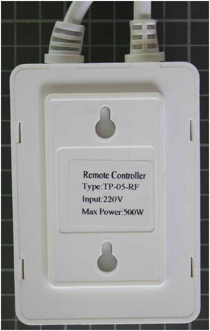 Non-compliant remote controller rear view