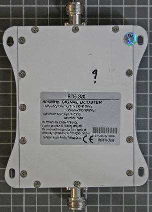 Non-compliant GSM repeater view from bottom