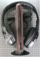 Non-compliant wireless headphones, overall view
