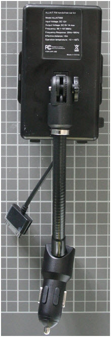 Non-compliant FM-Transmitter rear view