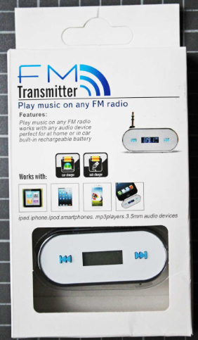 Non-compliant FM-Transmitter, packaging