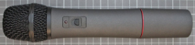 Non-compliant radio microphone, transmitter front view