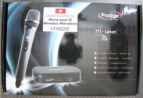 Non-compliant radio microphone, packaging