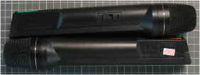 Non-compliant radio microphone, transmitter