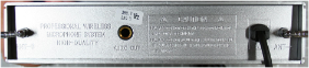 Non-compliant radio microphone, receiver rear view