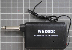 Non-compliant radio microphone, receiver front view