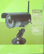 Non-compliant wireless camera, packaging
