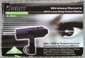 Non-compliant wireless camera with packaging