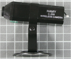 Non-compliant wireless camera side view