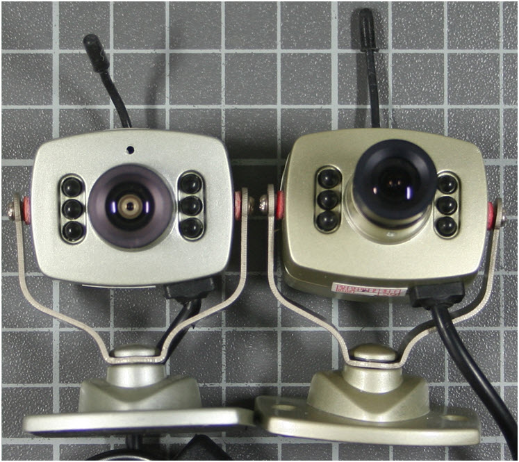 Non-compliant wireless camera front view