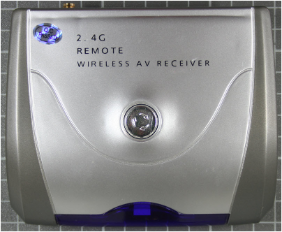 Non-compliant wireless camera - receiver view from top