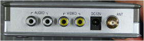 Non-compliant wireless camera - receiver rear view