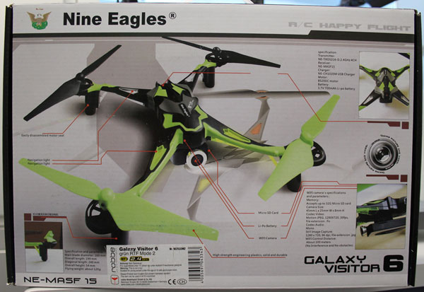 Quadcopter non-conforme - emballage