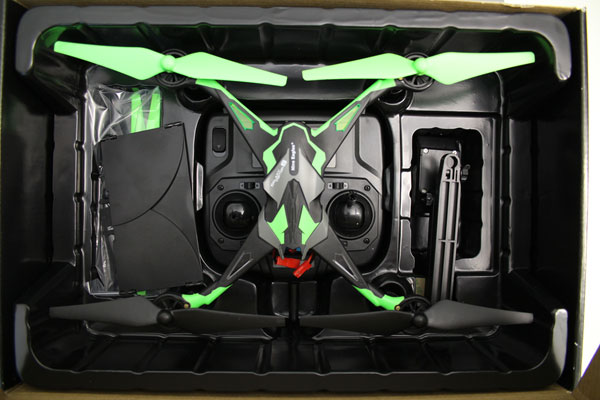 Quadcopter non-conforme - vue d'ensemble